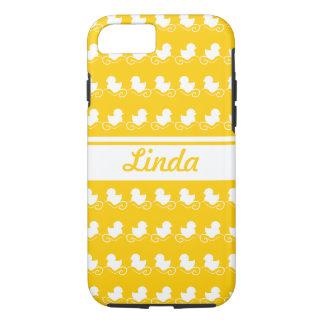 row of white ducks yellow iPhone 7 iPhone 7 Case