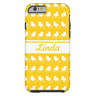row of white ducks yellow -Mate Tough iPhone 6 Case