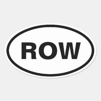 Row oval car stickers
