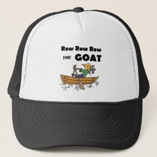 Row Row Row your Goat Fun Design Trucker Hat