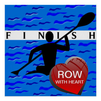 Row With Heart Rowing Poster