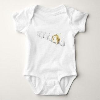 Row with piggy banks baby bodysuit
