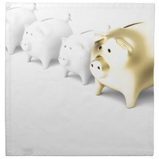 Row with piggy banks napkin