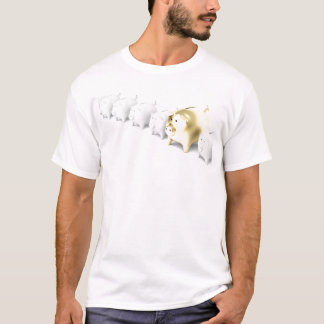 Row with piggy banks T-Shirt