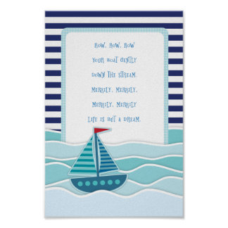 Row Your Boat Poster Art