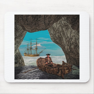 Rowboat from the Cave to the Ship Mouse Pads