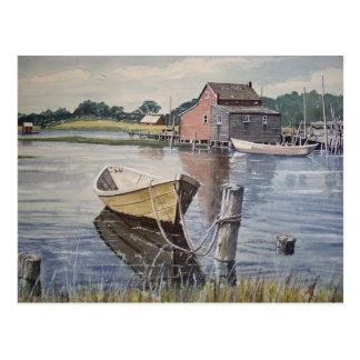 Rowboat on the Lake- postcard