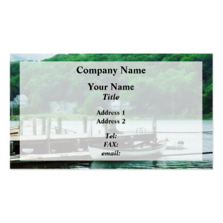 Rowboat Tied To Dock Mystic CT Business Cards