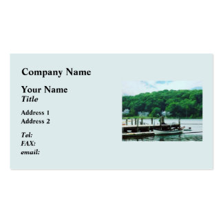 Rowboat Tied To Dock Mystic CT Business Card Templates
