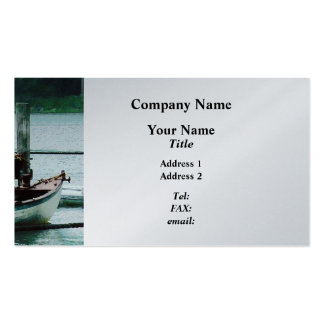 Rowboat Tied to Dock Mystic CT - Platinum Pack Of Standard Business Cards