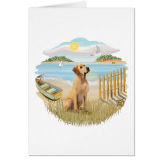 Rowboat- Yellow Lab 8 Card