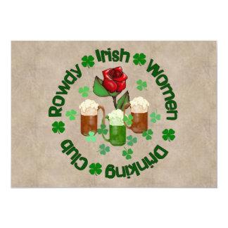 Rowdy Irish Women 13 Cm X 18 Cm Invitation Card