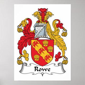 Rowe Family Crest Print
