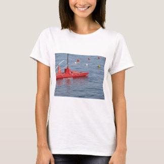 Rowed rescue catamaran at sea T-Shirt