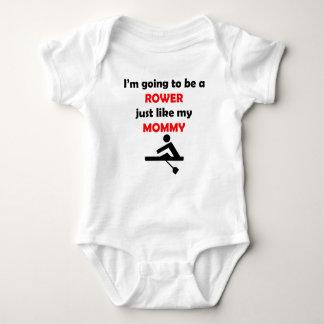 Rower Like My Mommy Baby Bodysuit