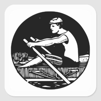 ROWER SQUARE STICKER