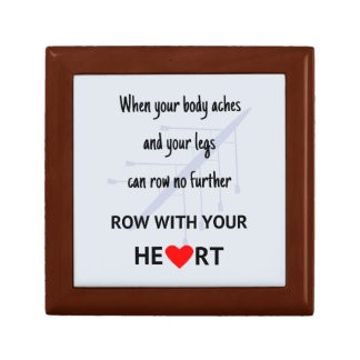 Rowers motivational quote small square gift box