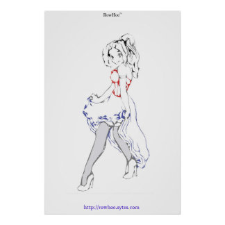 Rowhoe Girly Poster