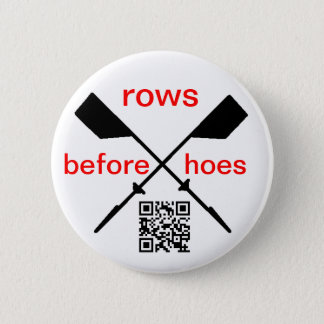 Rowing 6 Cm Round Badge