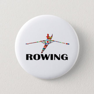Rowing 6 Cm Round Badge