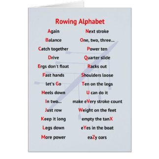 Rowing Alphabet fun A to Z Greeting Card