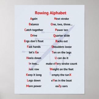 Rowing Alphabet fun A to Z Poster