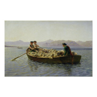 Rowing-Boat, 1863 Poster