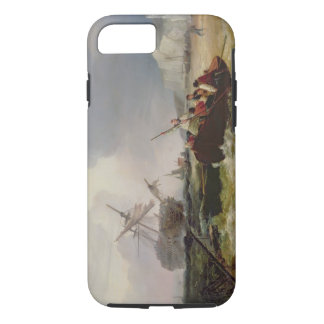 Rowing Boat Going to the Aid of a Man-o'-War in a iPhone 7 Case