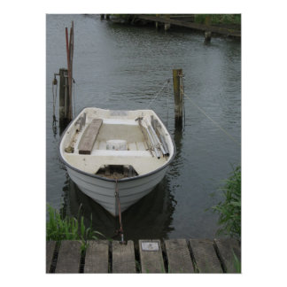 Rowing Boat in Lake Photo Poster Art