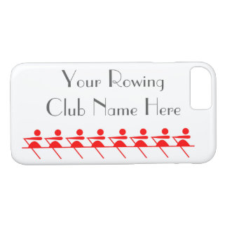 Rowing Club, Sculling Icon in Red iPhone 8/7 Case