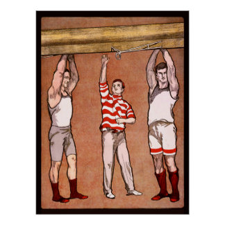 Rowing Cox Vintage Sports Rowers Rowing Boat Row Poster