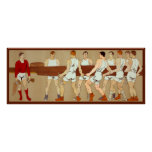 Rowing Crew Vintage Sports Fans Rowing Boat Poster