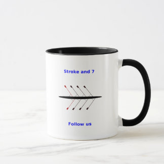 Rowing custom name crew 2-sided mug