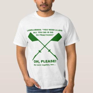 Rowing Meme (forest Green) T-Shirt