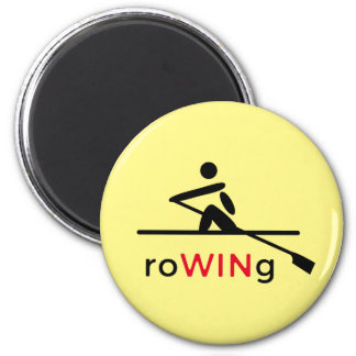 RoWINg motivational yellow 6 Cm Round Magnet