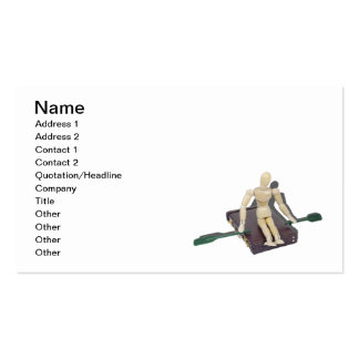 Rowing oars on Briefcase Pack Of Standard Business Cards
