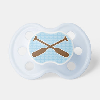Rowing Oars sports New Baby Boy Shower Gift Pacifiers
