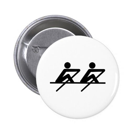 Rowing paddle team pinback buttons