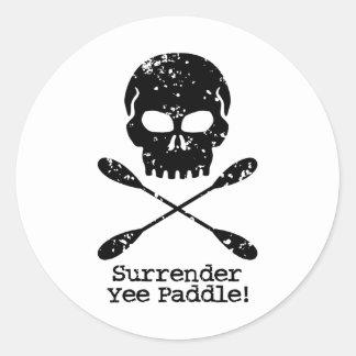 Rowing Pirate Round Sticker