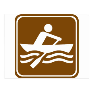 Rowing Recreational Highway Sign Postcard