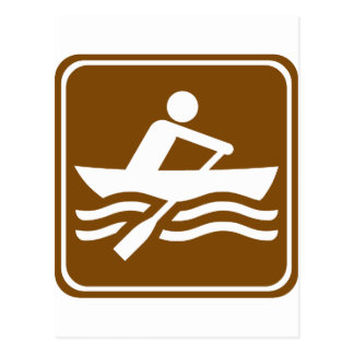 Rowing Recreational Highway Sign Postcard