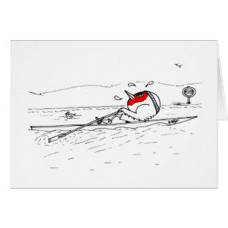 Rowing Robin Greeting Card