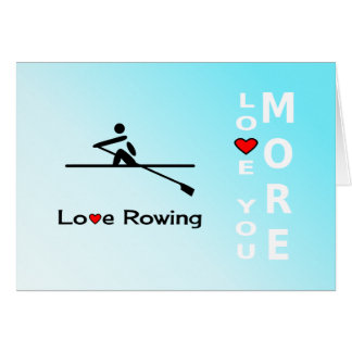 Rowing romantic love and Valentine Card