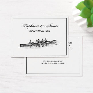 Rowing Rowers Crew Team Water Sports Business Card