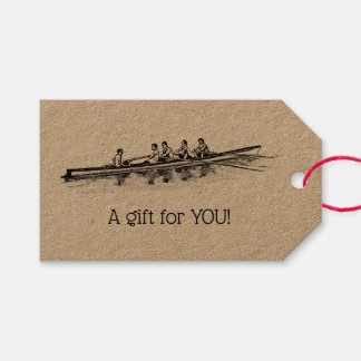 Rowing Rowers Crew Team Water Sports Gift Tags