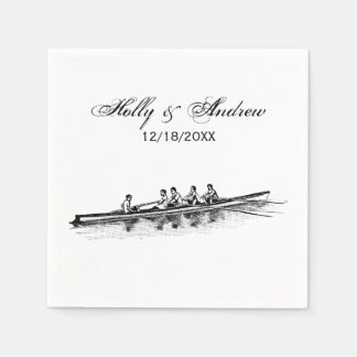 Rowing Rowers Crew Team Water Sports Paper Napkin