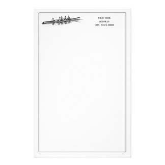 Rowing Rowers Crew Team Water Sports Stationery