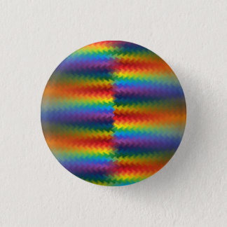 Rows of a Rainbow Fire 3 Cm Round Badge