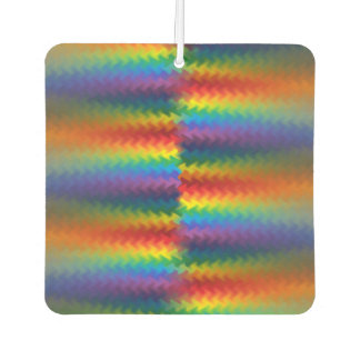 Rows of a Rainbow Fire Car Air Freshener