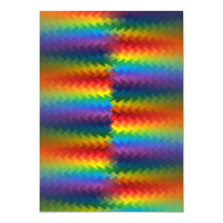 Rows of a Rainbow Fire Card